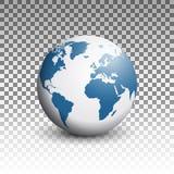 Globe world design trasparent Stock Image