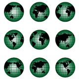 Globe of the World in Different Position. S.Check my portfolio for similar vecor image and other image Stock Image