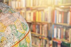 Globe. World geography map global travel earth Royalty Free Stock Photography