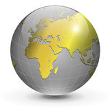 Globe of the world gold Royalty Free Stock Images