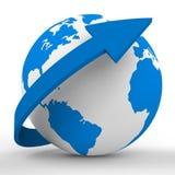 Globe World Indicates Solar System And Planet Stock Photography