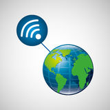 Globe world internet connection service Royalty Free Stock Images