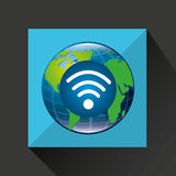 Globe world internet connection service Royalty Free Stock Photos