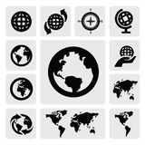 Globe and world map Royalty Free Stock Photos