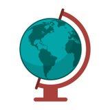 Globe world map icon Royalty Free Stock Photography