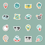 Globe and world map icons Royalty Free Stock Photos