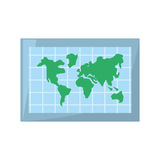Globe world map location. Vector illustration eps 10 Royalty Free Stock Images