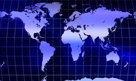 Globe world map with mesh Royalty Free Stock Image