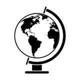 Globe world map pictogram Stock Photos