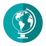 Globe world map shadow Royalty Free Stock Photo
