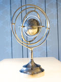 Globe : World Map Spin Steel Decoration Royalty Free Stock Photos