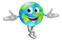 Globe world mascot man Royalty Free Stock Images