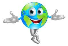 Globe world mascot man Royalty Free Stock Images