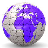 Globe World Means Jigsaw Puzzle And Global Stock Images