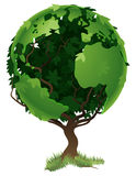 Globe world tree concept royalty free illustration