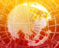 Globe world wireframe Royalty Free Stock Photography