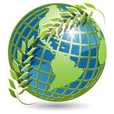 Globe with wreath Royalty Free Stock Images