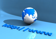 Globe and WWW 005 royalty free stock photography