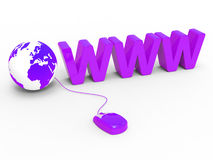 Globe Www Indicates World Wide Web And Globalise Stock Photos
