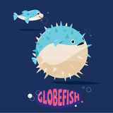 Globefish character fill their stomachs with air to make themsel Royalty Free Stock Photography