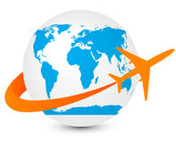 GlobeiconPlane Stock Photography