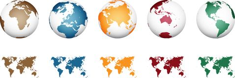 World Map - High Detailed Vector royalty free illustration