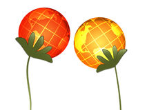 Globes. Abstract plants (globes) on white background Stock Illustration