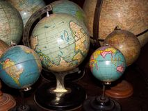 Globes. Of the world Stock Photo
