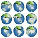 Globes avec des flèches illustration libre de droits