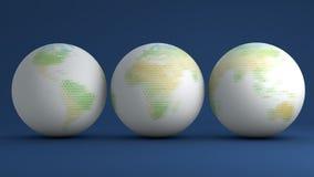Globes avec les lettres vertes Photographie stock libre de droits