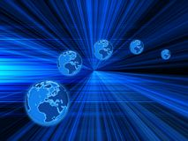 Globes background Royalty Free Stock Photo