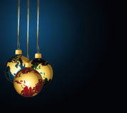 Globes balles background. Festive wallpaper with globes balls Stock Photos