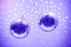 Globes bleus de disco Photographie stock