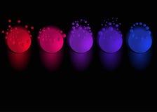Globes brillants de bulle Photo libre de droits