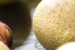 Globes, Christmas ornaments.  Royalty Free Stock Images