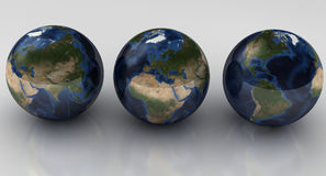 Globes concept stock image