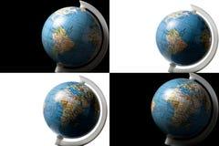 Globes d'isolement sur le blanc et le noir Image stock
