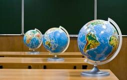 Globes dans une ligne Photo libre de droits