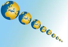 Globes de diminution Images stock