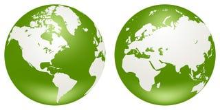 Globes de la terre Photographie stock