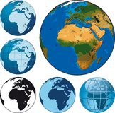 Globes de la terre Image stock