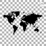 Globes de la terre de carte d'isolement sur le fond blanc Icône plate de la terre de planète Illustration de vecteur illustration libre de droits