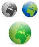 Globes de la terre - vecteurs Photos libres de droits