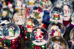 Globes de neige de Noël Photos libres de droits