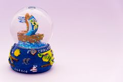 Globes de neige de la Grèce Chalkidiki de souvenirs Photo stock