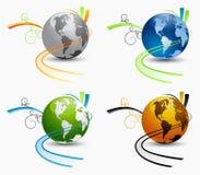 Globes de vecteur Photographie stock libre de droits