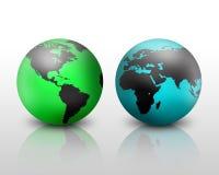 Globes du monde Photos libres de droits