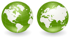 Globes of Earth Stock Photo