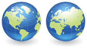Globes of Earth Royalty Free Stock Photo