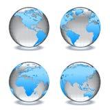 Globes en verre de cristal des mondes Image libre de droits